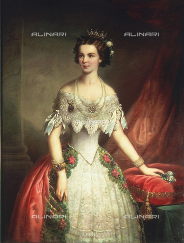 IMA-F-139160-0000 - Elizabeth (1837-1898), future empress of Austria, Queen of Hungary, at the age of 16, oil on canvas, private collection - Austrian Archives / Imagno/Alinari Archives