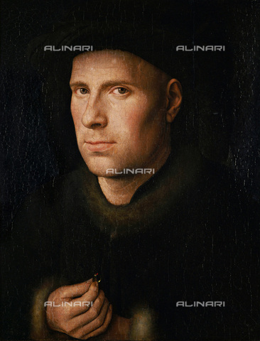 IMA-F-448946-0000 - Portrait of Jan de Leeuw, oil on panel, Eyck, Jan van (ca. 1390-1441), Kunsthistorisches Museum, Vienna - Austrian Archives (AA) / Imagno/Alinari Archives