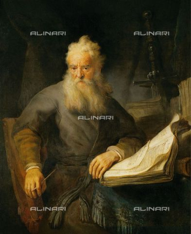 IMA-F-449033-0000 - The Apostle Paul, oil on canvas, Harmenszoon van Rijn Rembrandt (1606-1669), Kunsthistorisches Museum, Vienna - Austrian Archives (AA) / Imagno/Alinari Archives