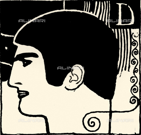 IMA-F-621194-0000 - Design for Ver Sacrum, year 1898 (n. 3 p. 24), brush and ink, Gustav Klimt (1862-1918) - Austrian Archives / Imagno/Alinari Archives