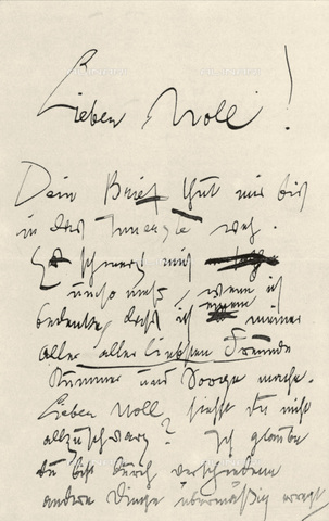 IMA-F-621216-0000 - First page of a letter that the painter Gustav Klimt (1862-1918) has written to the artist Carl Moll (1861-1945) May 19, 1899 - Austrian Archives / Imagno/Alinari Archives
