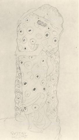 IMA-F-621254-0000 - Studio for Kiss, pencil on paper, Gustav Klimt (1862-1918) - Austrian Archives / Imagno/Alinari Archives