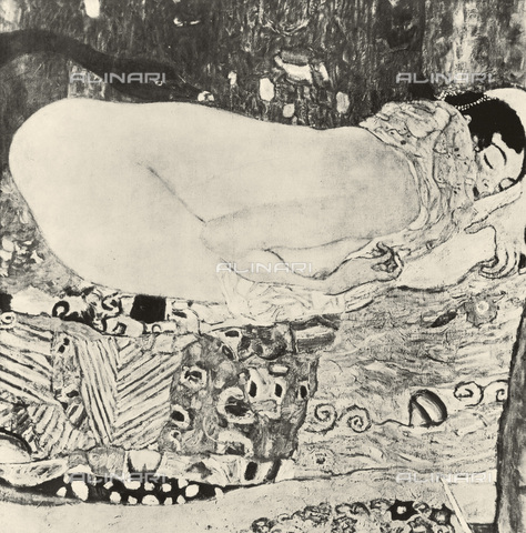 IMA-F-621280-0000 - Leda, oil on canvas, Gustav Klimt (1862-1918), the work was destroyed during a fire at Immendorf Castle in 1945 - Austrian Archives / Imagno/Alinari Archives