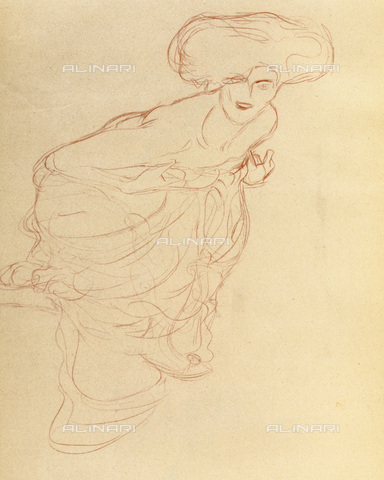 """IMA-F-621292-0000 - Female figure, study for the painting """"Judith II or Salome"""", drawing, Gustav Klimt (1862-1918) - Austrian Archives / Imagno/Alinari Archives"""