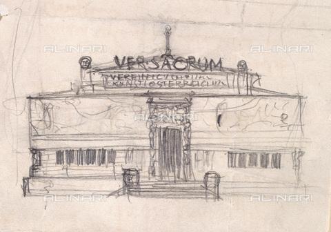 IMA-F-621300-0000 - Sketch for the façade of the Secession, design, Gustav Klimt (1862-1918) - Austrian Archives / Imagno/Alinari Archives