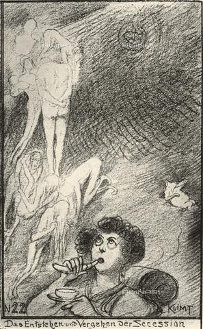 IMA-F-621302-0000 - Il sorgere e oblio della Secessione, caricatura di Gustav Klimt, disegno - Austrian Archives / Imagno/Alinari Archives