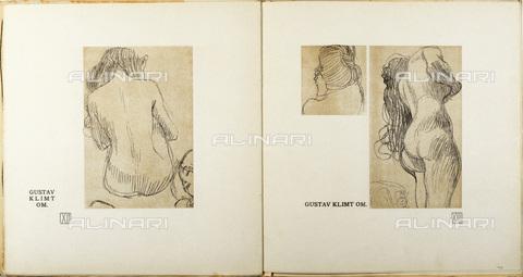 IMA-F-621305-0000 - Female nudes, Fakultätsbild Medizin, illustration for Ver Sacrum, Number 6, Volume 4, 1901, lithograph, Gustav Klimt (1862-1918) - Austrian Archives / Imagno/Alinari Archives