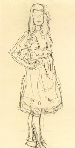 IMA-F-621309-0000 - Study for the painting of Mada Primavesi, pencil on paper, Gustav Klimt (1862-1918), Wien Museum, Vienna - Wien Museum / Imagno/Alinari Archives