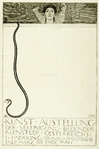 IMA-F-621312-0000 - Sketch for the poster for the first exhibition of the Vienna Secession, engraving, Gustav Klimt (1862-1918) - Austrian Archives / Imagno/Alinari Archives