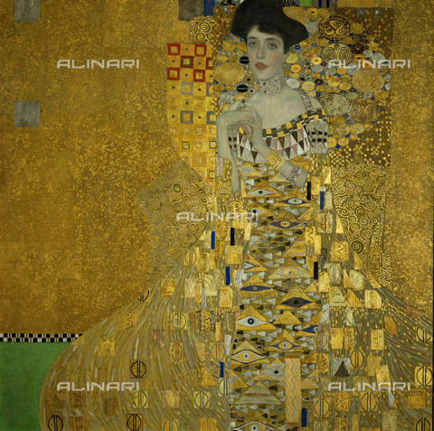 IMA-F-621647-0000 - Portrait of Adele Bloch-Bauer I, oil on canvas, Gustav Klimt (1862-1918), Neue Galerie, New York - Austrian Archives / Imagno/Alinari Archives