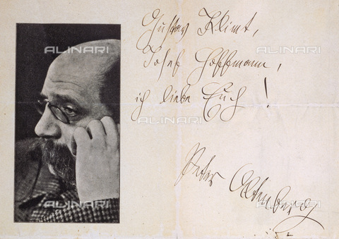 IMA-F-622235-0000 - Letter from the Austrian poet Peter Altenberg with a dedication to the painter Gustav Klimt - Data dello scatto: 1910 ca. - Austrian Archives / Imagno/Alinari Archives