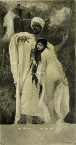 IMA-F-622248-0000 - The fairy tale, pencil and ink on paper, Gustav Klimt (1862-1918), Wien Museum, Vienna - Wien Museum / Imagno/Alinari Archives