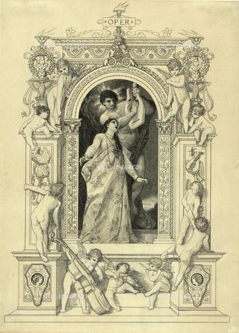 IMA-F-622249-0000 - The opera, pen and ink on paper, Gustav Klimt (1862-1918), Wien Museum, Vienna - Wien Museum / Imagno/Alinari Archives