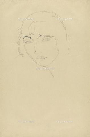 IMA-F-622255-0000 - Study for a woman's head, pencil on paper, Gustav Klimt (1862-1918), Wien Museum, Vienna - Wien Museum / Imagno/Alinari Archives