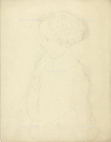 IMA-F-622271-0000 - Child profile portrait, pencil on paper, Gustav Klimt (1862-1918), Wien Museum, Vienna - Wien Museum / Imagno/Alinari Archives