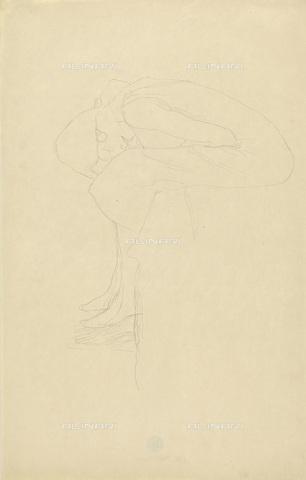 IMA-F-622286-0000 - Woman squatting, pencil on paper, Gustav Klimt (1862-1918), Wien Museum, Vienna - Wien Museum / Imagno/Alinari Archives