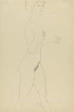 IMA-F-622287-0000 - Female nude standing, pencil on paper, Gustav Klimt (1862-1918), Wien Museum, Vienna - Wien Museum / Imagno/Alinari Archives