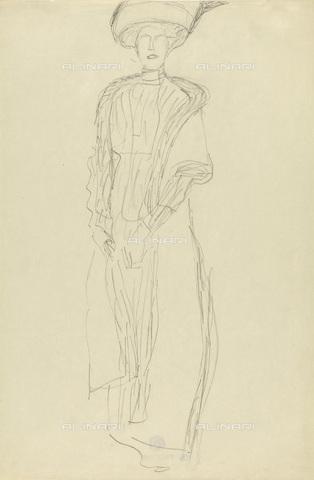IMA-F-622288-0000 - Female portrait, studio for portrait Adele Bloch-Bauer II, pencil on paper, Gustav Klimt (1862-1918), Wien Museum, Vienna - Wien Museum / Imagno/Alinari Archives