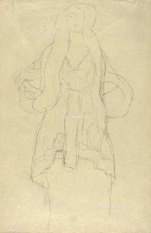 IMA-F-622289-0000 - Female portrait, study for the portrait of Amalie Zuckerkandl, pencil on paper, Gustav Klimt (1862-1918), Wien Museum, Vienna - Wien Museum / Imagno/Alinari Archives