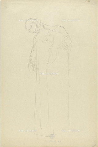 IMA-F-622295-0000 - Embraced lovers, pencil on paper, Gustav Klimt (1862-1918), Wien Museum, Vienna - Wien Museum / Imagno/Alinari Archives