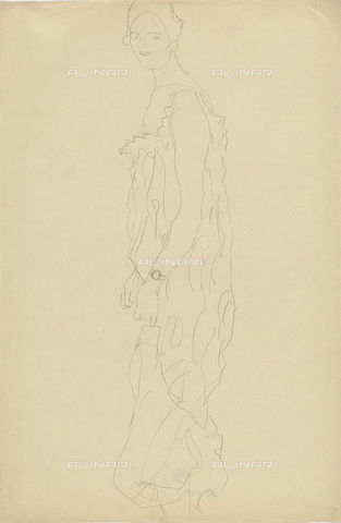 IMA-F-622296-0000 - Female portrait, pencil on paper, Gustav Klimt (1862-1918), Wien Museum, Vienna - Wien Museum / Imagno/Alinari Archives