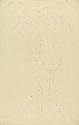 IMA-F-622298-0000 - Embraced naked couple, pencil on paper, Gustav Klimt (1862-1918), Wien Museum, Vienna - Wien Museum / Imagno/Alinari Archives