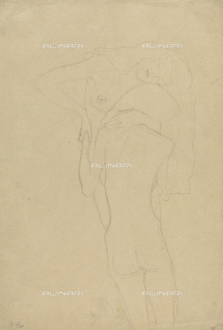 IMA-F-622300-0000 - Naked women embracing, pencil on paper, Gustav Klimt (1862-1918), Wien Museum, Vienna - Wien Museum / Imagno/Alinari Archives