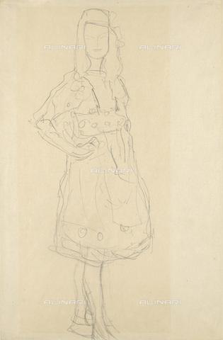 IMA-F-622303-0000 - Female portrait, portrait study of Mada Primavesi, pencil on paper, Gustav Klimt (1862-1918), Wien Museum, Vienna - Wien Museum / Imagno/Alinari Archives