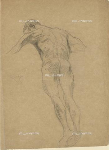 IMA-F-622307-0000 - Male nude, pencil on paper, Gustav Klimt (1862-1918), Wien Museum, Vienna - Wien Museum / Imagno/Alinari Archives