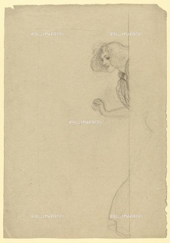 IMA-F-622315-0000 - Female figure, pencil on paper, Gustav Klimt (1862-1918), Wien Museum, Vienna - Wien Museum / Imagno/Alinari Archives