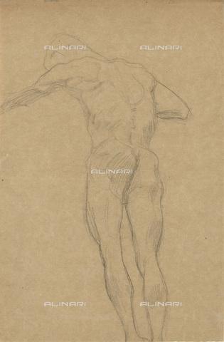 IMA-F-622317-0000 - Male nude, Gustav Klimt (1862-1918), Wien Museum, Vienna - Wien Museum / Imagno/Alinari Archives