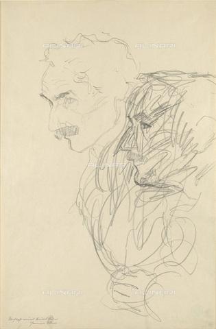 IMA-F-622323-0000 - Studio for male portrait, pencil on paper, Gustav Klimt (1862-1918), Wien Museum, Vienna - Wien Museum / Imagno/Alinari Archives