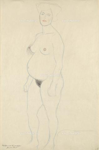 IMA-F-622324-0000 - Female nude, pencil on paper, Gustav Klimt (1862-1918), Wien Museum, Vienna - Wien Museum / Imagno/Alinari Archives