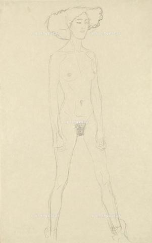 IMA-F-622325-0000 - Female nude, pencil on paper, Gustav Klimt (1862-1918), Wien Museum, Vienna - Wien Museum / Imagno/Alinari Archives