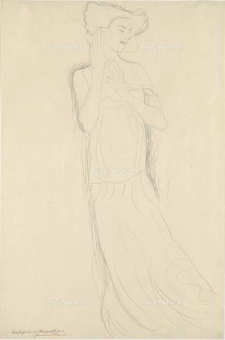 IMA-F-622327-0000 - Female portrait, pencil on paper, Gustav Klimt (1862-1918), Wien Museum, Vienna - Wien Museum / Imagno/Alinari Archives