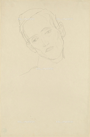 IMA-F-622328-0000 - Portrait of young man, pencil on paper, Gustav Klimt (1862-1918), Wien Museum, Vienna - Wien Museum / Imagno/Alinari Archives