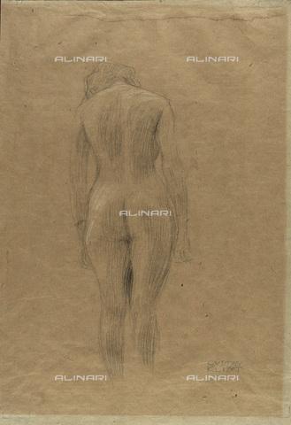 IMA-F-622338-0000 - Female nude, pencil on paper, Gustav Klimt (1862-1918), Wien Museum, Vienna - Wien Museum / Imagno/Alinari Archives