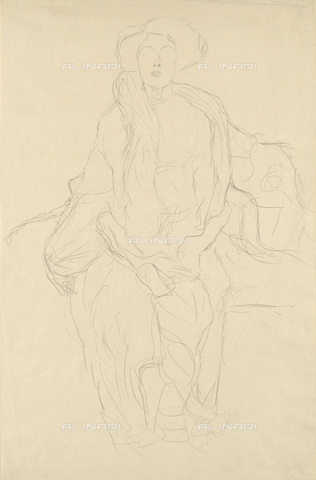IMA-F-622339-0000 - Female portrait, study for the portrait of Amalie Zuckerkandl,, pencil on paper, Gustav Klimt (1862-1918), Wien Museum, Vienna - Wien Museum / Imagno/Alinari Archives