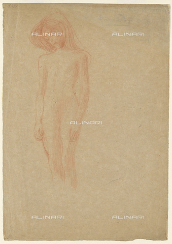 IMA-F-622349-0000 - Female nude, red pencil on paper, Gustav Klimt (1862-1918), Wien Museum, Vienna - Wien Museum / Imagno/Alinari Archives