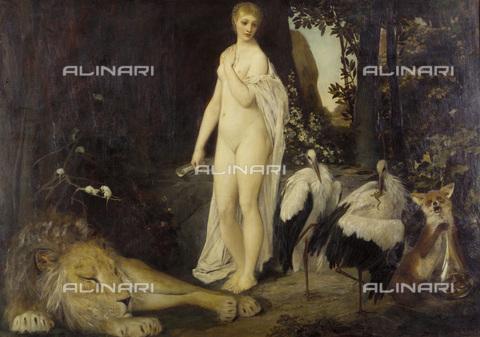 IMA-F-622352-0000 - Fable, oil on canvas, Gustav Klimt (1862-1918), Wien Museum, Vienna - Wien Museum / Imagno/Alinari Archives
