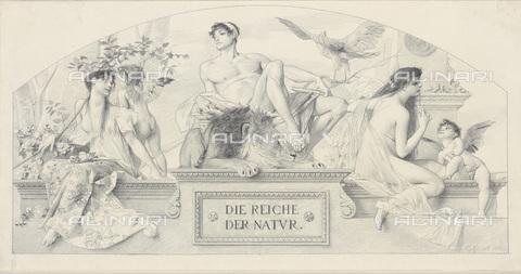 IMA-F-622353-0000 - Die Reiche der Natur, pencil on paper, Gustav Klimt (1862-1918), Wien Museum, Vienna - Wien Museum / Imagno/Alinari Archives