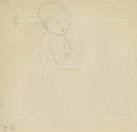 IMA-F-622359-0000 - Child, pencil on paper, Gustav Klimt (1862-1918), Wien Museum, Vienna - Wien Museum / Imagno/Alinari Archives