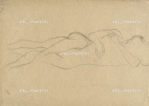 IMA-F-622360-0000 - Naked embraced lovers, pencil on paper, Gustav Klimt (1862-1918), Wien Museum, Vienna - Wien Museum / Imagno/Alinari Archives