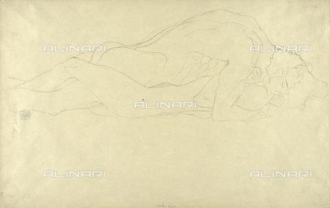 IMA-F-622363-0000 - Embraced lovers, pencil on paper, Gustav Klimt (1862-1918), Wien Museum, Vienna - Wien Museum / Imagno/Alinari Archives