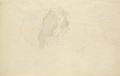 IMA-F-622374-0000 - Woman with open arms, pencil on paper, Gustav Klimt (1862-1918), Wien Museum, Vienna - Wien Museum / Imagno/Alinari Archives