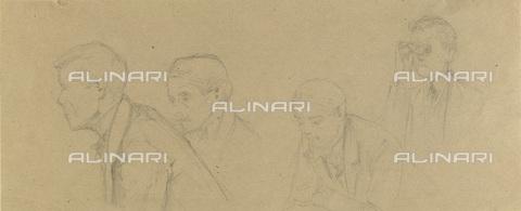 IMA-F-622379-0000 - Spectators, study for Zuschauerraum im alten Burgtheater, pencil on paper, Gustav Klimt (1862-1918), Wien Museum, Vienna - Imagno/Alinari Archives