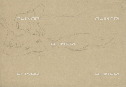 IMA-F-622383-0000 - Naked embraced lovers, pencil on paper, Gustav Klimt (1862-1918), Wien Museum, Vienna - Imagno/Alinari Archives