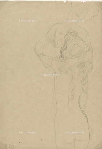 IMA-F-622385-0000 - Two naked women embracing, pencil on paper, Gustav Klimt (1862-1918), Wien Museum, Vienna - Imagno/Alinari Archives