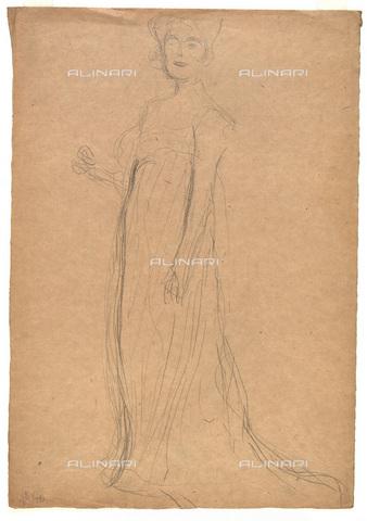 IMA-F-622386-0000 - Female figure, pencil on paper, Gustav Klimt (1862-1918), Wien Museum, Vienna - Imagno/Alinari Archives