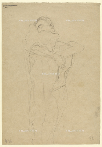 IMA-F-622387-0000 - Naked embraced lovers, pencil on paper, Gustav Klimt (1862-1918), Wien Museum, Vienna - Imagno/Alinari Archives